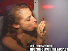 naughty nurse tasting semen samples through the gloryhole