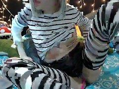 Bowtie babe solo webcam tease