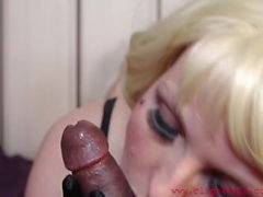 Soft Silky Gloves...Hard Black Cock