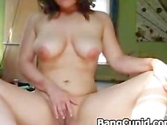 Horny girl with nice tits masturbates
