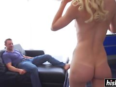 Elsa Jean loves to ride his cock