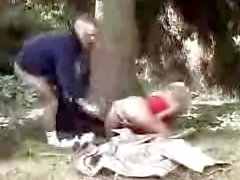 German whore fucked in the wood 1fuckdatecom