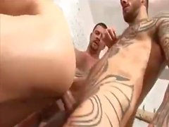 Two Studs Fuck Lad in Changing Room