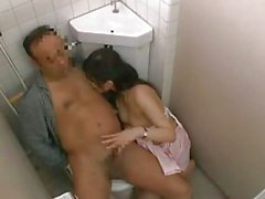Nurse With Hairy Pussy Riding On Patient Cock Sucking And Jerking His Cock In The Toilette by japlez