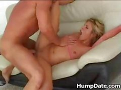 Hot ass blonde gets pounded repeatedly
