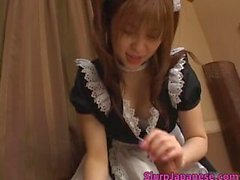 Cute maid Yui Asahin sucks cock part5
