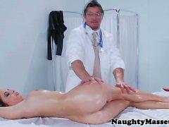 Ashley Graham sucking masseurs cock
