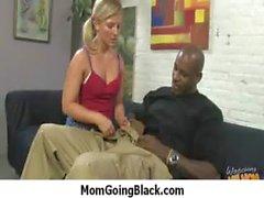 Hot milf fucks hard an huge black cock 13