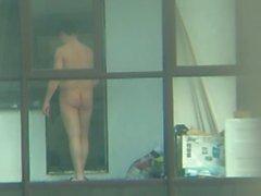 balcony wanker!!!!