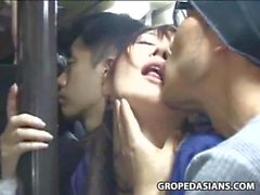 Shocked shy Teen groped in Bus