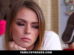 FamilyStrokes Step-Sis Learns To Suck And Fuck