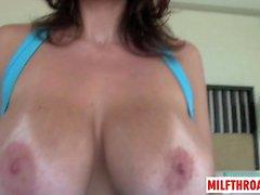 Big tits milf pov with cumshot