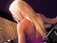 Blondie babe gets her Asians boyfriend sperm on her face