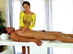 Hot therapist gets cummed