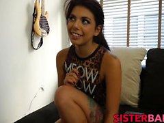 Perfect young babe Gina Valentina sucks and rides my cock