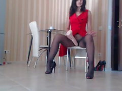 Pantyhose squirt 2