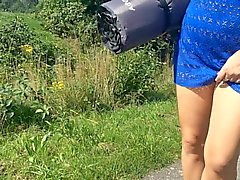 Dutch Milf Outdoor Cum party with lots of strangers