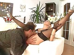 Natalli DiAngelo wears her black stocking while fucking this guy
