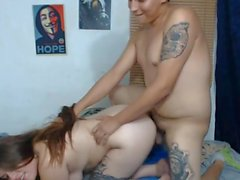 chubby teen fucked doggy pulling hair