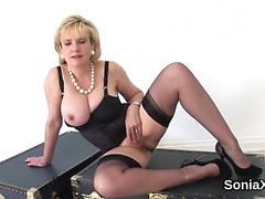 Unfaithful english milf gill ellis shows off her giant boobs