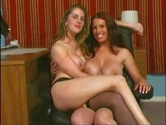Lesbians fooling around with control