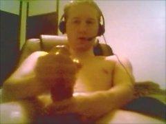 18 Jahre alten Teen Boy mit riesigen Cock-Jacks aus und Cums On Webcam