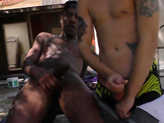Black guy fucks tight ass