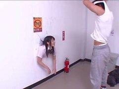 Ai Uehara gets stuck in a wall (HND-181)