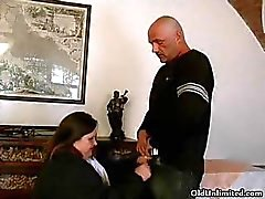 Fat brunette mature lady loves sucking part1