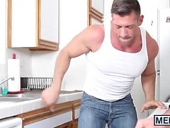 Alex calls for a plumber and muscle god Bruce comes to help