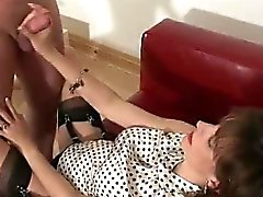 Fetish mature brit sucks cock