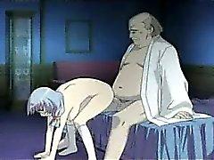 Ugly man fucks with a horny girl