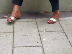 mature latine cleaning lady feet
