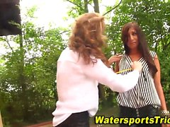 Watersports lesbians toy