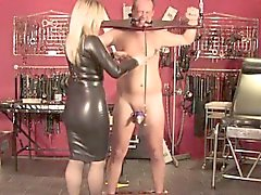 English mistress humiliates pathetic sub
