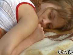 Beata gets her hot pussy fucked in the forest