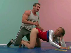 Teenage gymnast Jamie Elle in skin tight uniform gets her : Pornsharing fucking tube