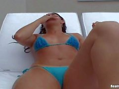 Perfect Ass latina Tarsila in blue bikini