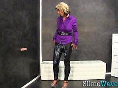 Kinky slut slime covered