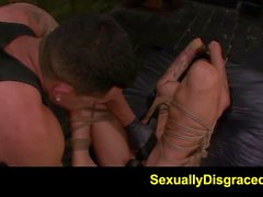 FetishNetwork Alby Rydes rope bdsm slave gets