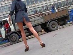 Walking Russian girl