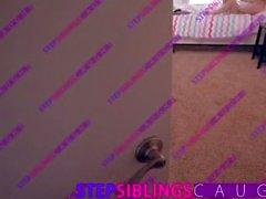 StepSiblingsCaught - Sister caught masturbating so fucks boyfriend