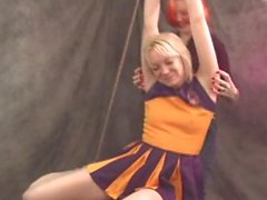 Cheerleader Tickled