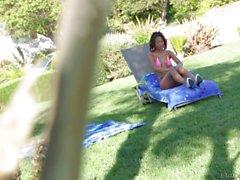 Exotic bikini girl Alina Li shows Her tiny tits