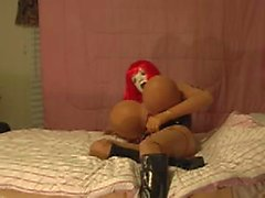 rubber doll with her big boobs wanking