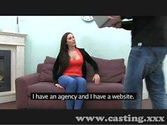Casting Saucy English amateur loves cock