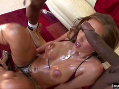 Kelly Divine is about to get assaulted by two huge...