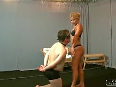 blonde goddess dominate slave