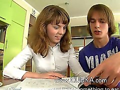 schoolgirls sex on the kitchen table