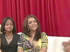 Ebony femdom babes watch jerking
